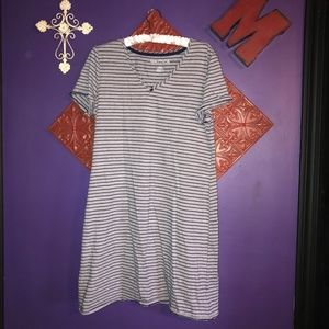 NWOT Nautica Blue & White Striped Nightgown